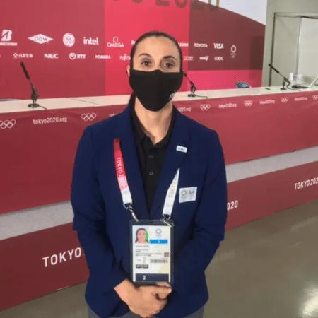 Andreia Regina, primeira árbitra mulher a apitar jogo de basquete masculino em Olimpíadas - Guilherme Costa