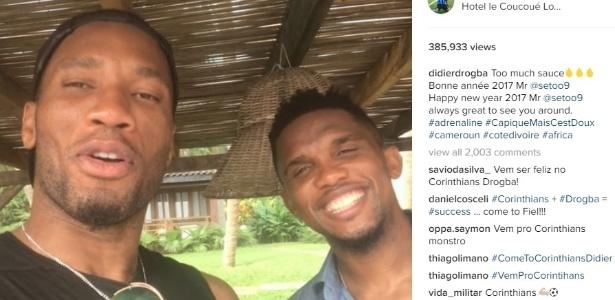 Corintianos enlouquecem com negociação e invadem Instagram de Drogba