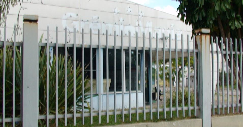 Faixada da Grêmio Mania, loja oficial no Estádio Olímpico