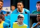 Montagem com fotos de Lucas Uebel/Grêmio