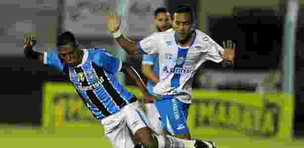 Pedro Rocha, do Grêmio, na partida contra o Novo Hamburgo, válida pelo Campeonato Gaúcho - RICARDO RIMOLI/AGIF/ESTADÃO CONTEÚDO - RICARDO RIMOLI/AGIF/ESTADÃO CONTEÚDO