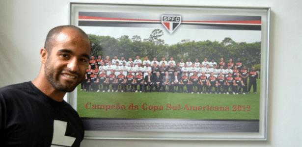 Lucas fez parte do time campeão da Copa Sul-Americana de 2012