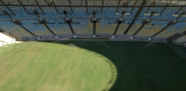 Vista aérea do Maracanã; policiamento do estádio agora será todo feito pelo Gepe