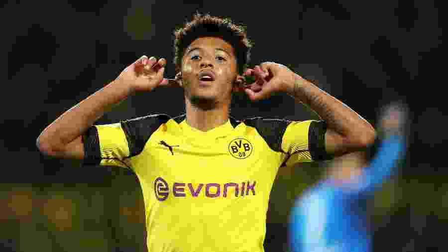 Jadon Sancho foi à Inglaterra sem autorização da direção do Borussia Dortmund - EFE/FRIEDEMANN VOGEL