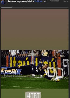 No Instagram, Prass mostra defesa de pênalti contra o Corinthians - Reprodução/Instagram