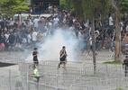 Vídeo mostra torcida do Vasco atacando cavalaria da PM em tumulto no Maraca - ANDRÉ FABIANO/CÓDIGO19/ESTADÃO CONTEÚDO