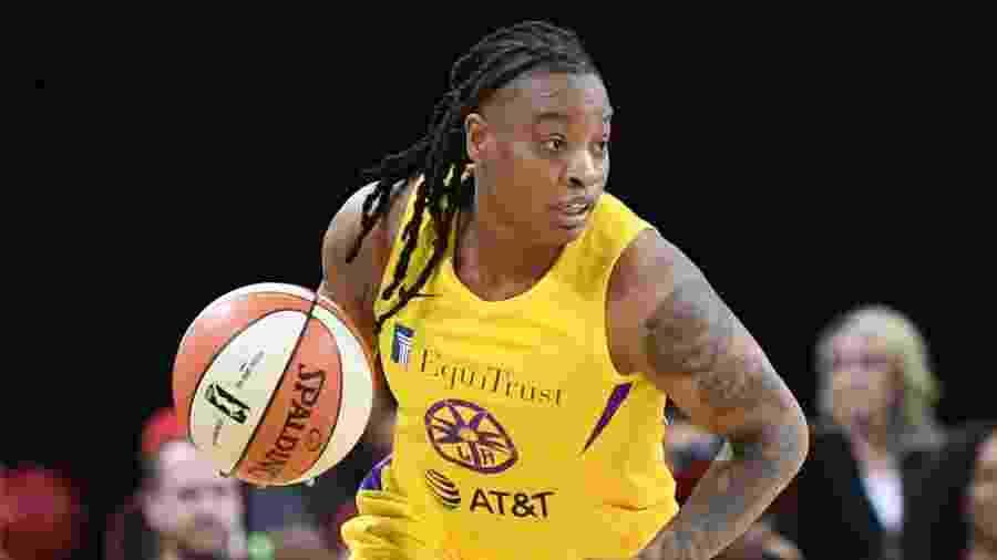 Riquna Williams, durante partida da WNBA - Ethan Miller/Getty Images /AFP