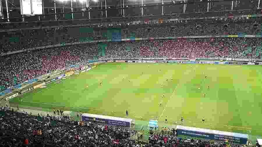 Torcida do Bahia marca presença em jogo contra o São Paulo, na Fonte Nova - Divulgação/E.C. Bahia