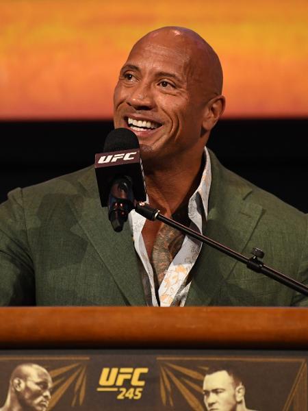 """Dwayne """"The Rock"""" Johnson durante apresentação do UFC 244 - Josh Hedges/Zuffa LLC via Getty Images"""