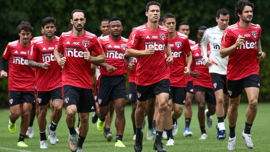 Jogadores do São Paulo  - Marcello Zambrana/AGIF