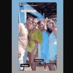 Kaká e Carol Dias posam ao lado de convidados em sua festa de casamento - Reprodução/Instagram Carol Dias