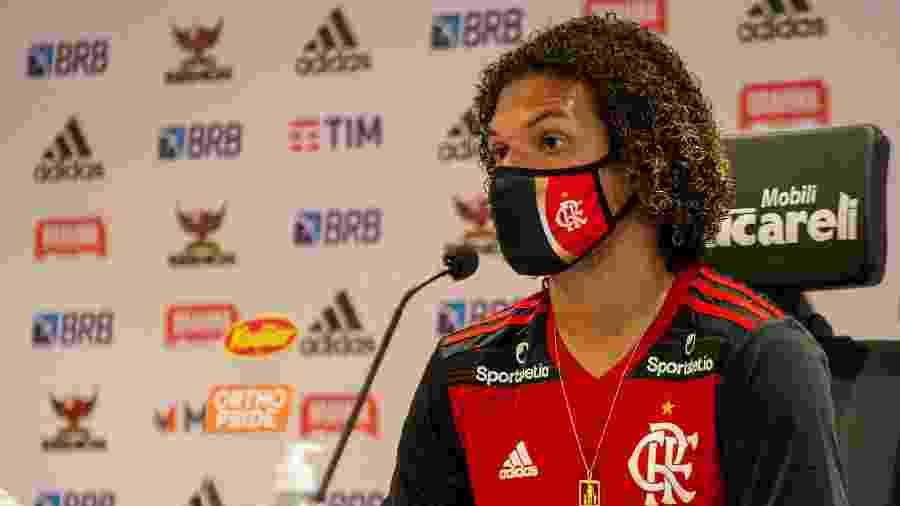 Willian Arão concede entrevista coletiva no CT do Flamengo - Paula Reis / Flamengo