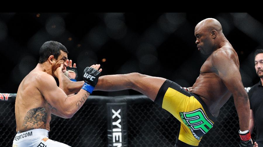 Anderson Silva, na luta contra Vitor Belfort - Zuffa LLC via Getty Images