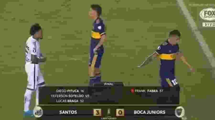 Tevez ignora pedido de Marinho após 3 a 0 na Vila Belmrio - Divulgação