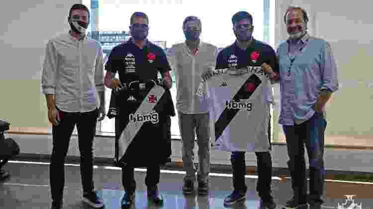 Da esquerda para direita: Alexandre Pássaro, Marcelo Cabo, Jorge Salgado, Gabriel Cabo e Carlos Roberto Osório - Rafael Ribeiro / Vasco - Rafael Ribeiro / Vasco