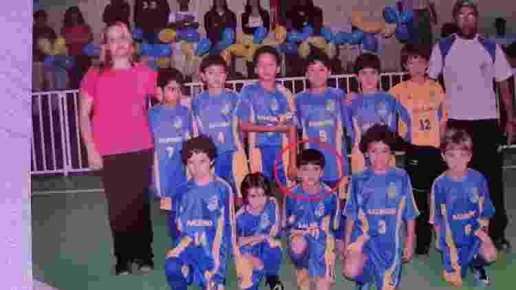 Gabriel Pec nos tempos de futsal do Carangola - Arquivo Pessoal - Arquivo Pessoal
