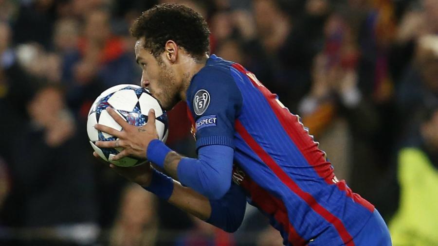 """A """"remontada"""" do Barcelona sobre o PSG foi a grande atuação de Neymar na Champions - Getty Images"""
