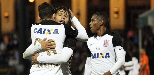 Jogadores do Corinthians comemoram gol de Romero na Florida Cup de 2016