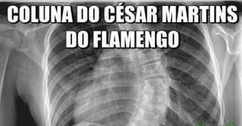 Meme brinca com o drible desconcertante de Riascos sobre César Martins