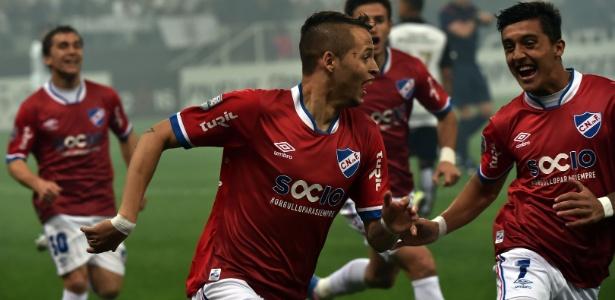 Nico López marcou um dos gols do Nacional-URU que eliminou o Corinthians em 2016 - AFP PHOTO / NELSON ALMEIDA