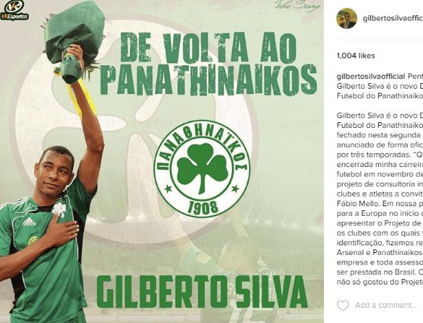 Gilberto Silva jogou no Panathinaikos entre 2008 e 2011, após deixar o Arsenal