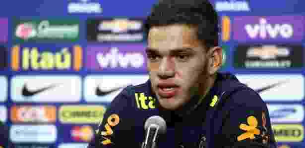 Ederson concede entrevista pela primeira vez como goleiro da seleção principal - Lucas Figueiredo/Mowa Press