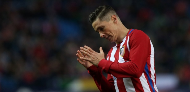Fernando Torres não vive bom momento no Atlético de Madri