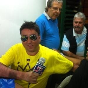 Cristopher Antúnez, jornalista chileno preso na Arena Corinthians
