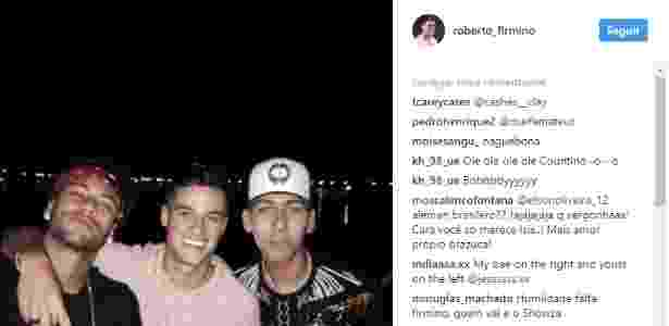 Firmino registra encontro com Neymar e Philippe Coutinho no Instagram - Reprodução/Instagram