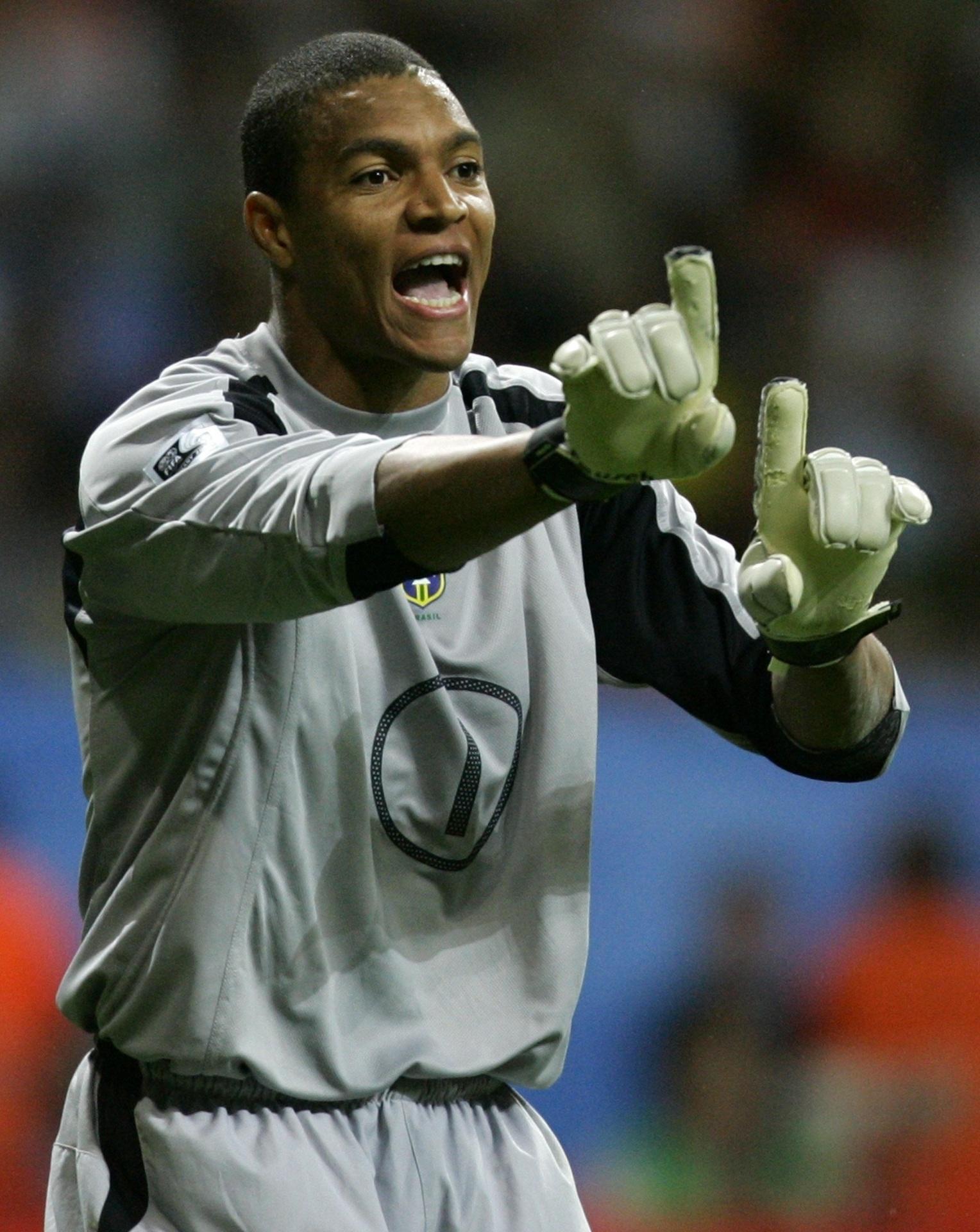 Dida, goleiro do Brasil na Copa das Confederações de 2005