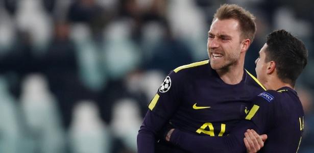 Eriksen anotou gol de empate do Tottenham: 2 a 2 em Turim