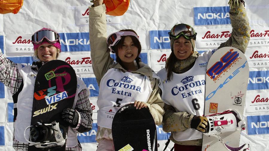 Talento precoce do esporte, Melo Imai (centro) deixou o esporte e virou personalidade conhecida no entretenimento japonês - Agence Zoom/Getty Images