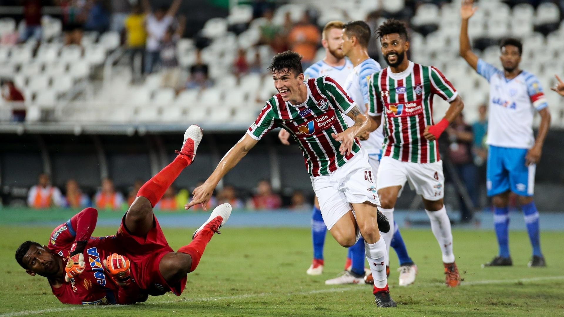 Ibañez comemora gol do Fluminense contra o Avaí pela Copa do Brasil