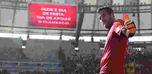 Júlio César está pronto para atuar pela última vez na vitoriosa carreira de goleiro - Gilvan de Souza/Flamengo