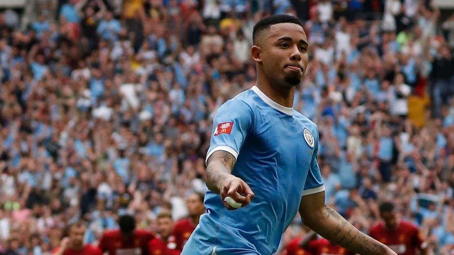 Gabriel Jesus lesiona a coxa e vira desfalque no Manchester City - Adrian DENNIS / AFP