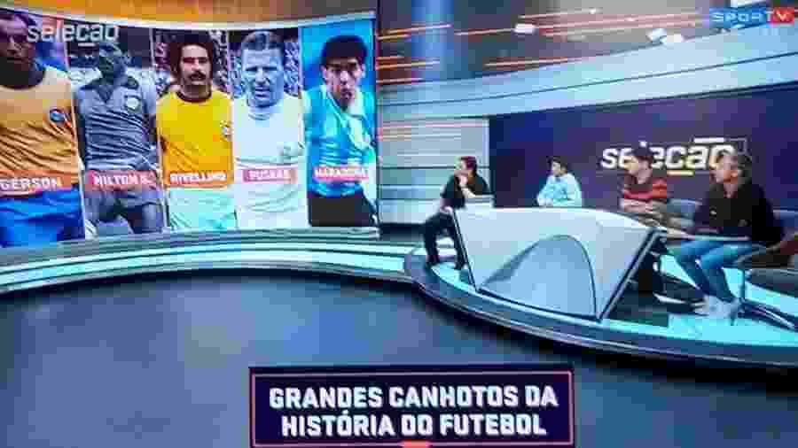 SporTV coloca Nilton Santos em homenagem ao Dia Mundial do Canhoto - Reprodução/SporTV