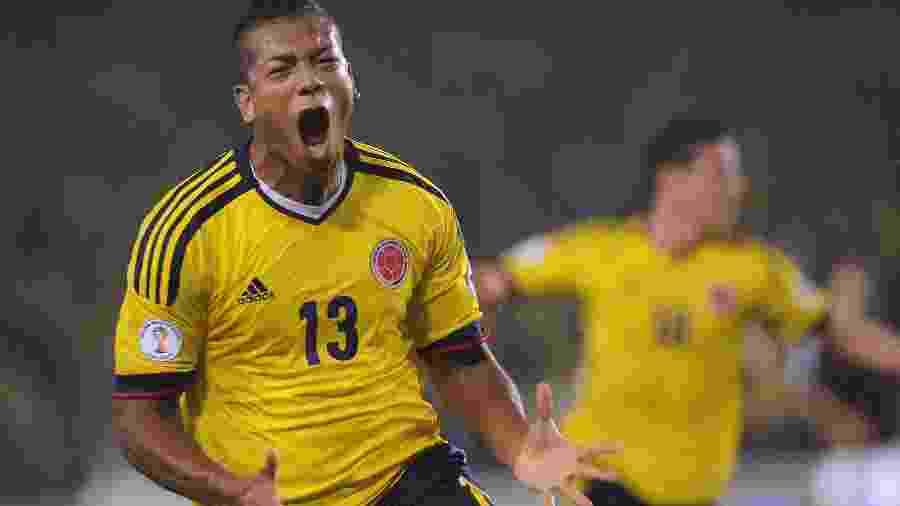 Fredy Guarin durante partida da seleção colombiana - Raul Arboleda/AFP
