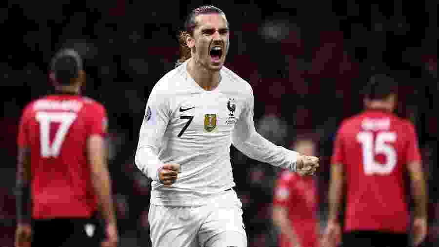 Tolisso e Griezmann (foto) marcaram os gols franceses no jogo fora de casa contra a Albânia - Franck Fife/AFP