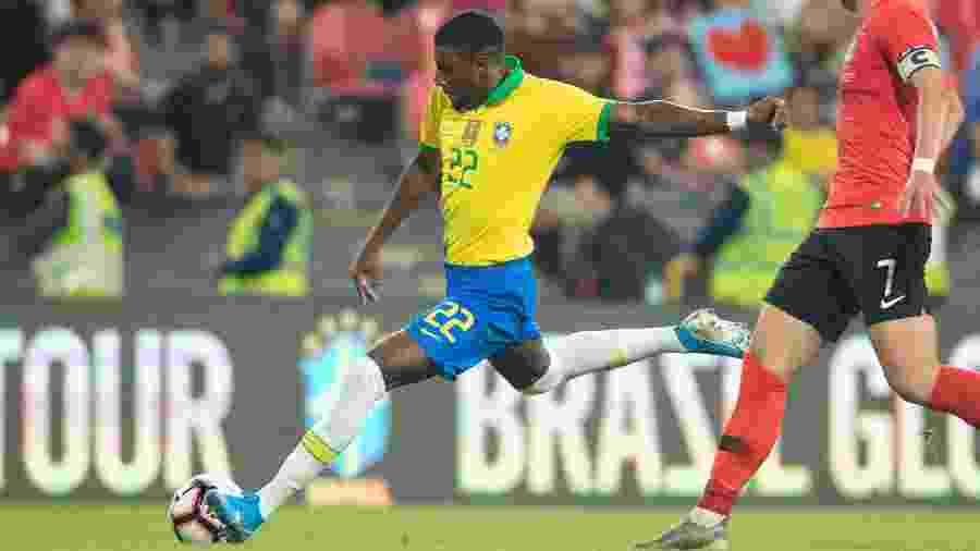 Emerson em sua estreia pela seleção brasileira principal, em amistoso contra a Coreia do Sul - Lucas Figueiredo/CBF