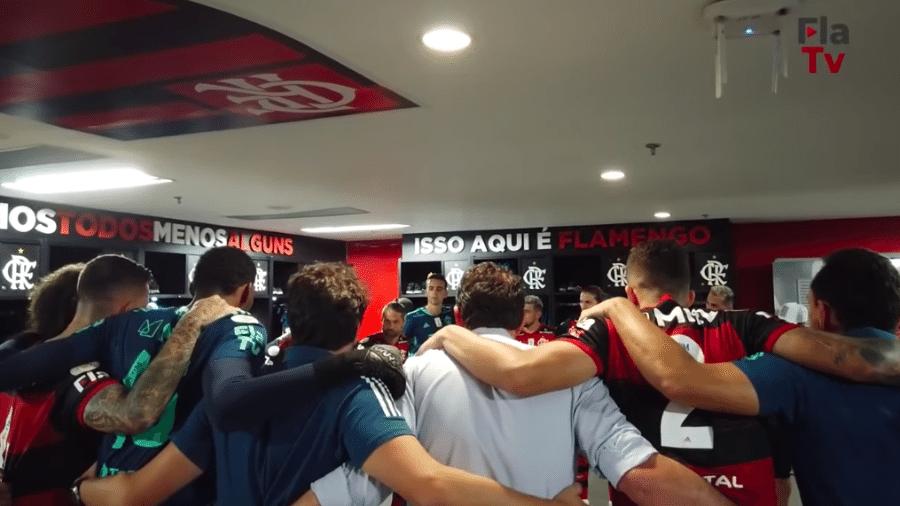 Rogério Ceni faz discurso motivador antes de Flamengo e Internacional pelo Brasileirão - Transmissão Fla TV