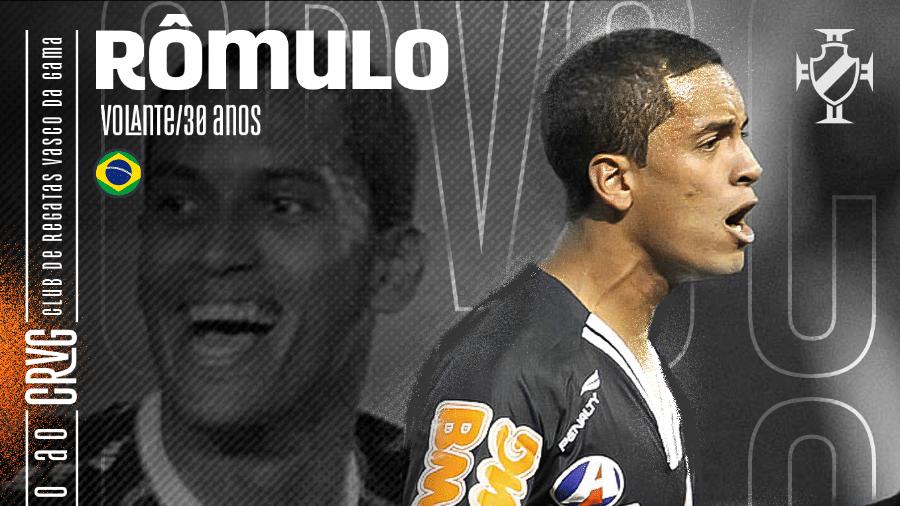Vasco anuncia retorno do volante Rômulo - Reprodução site oficial Vasco