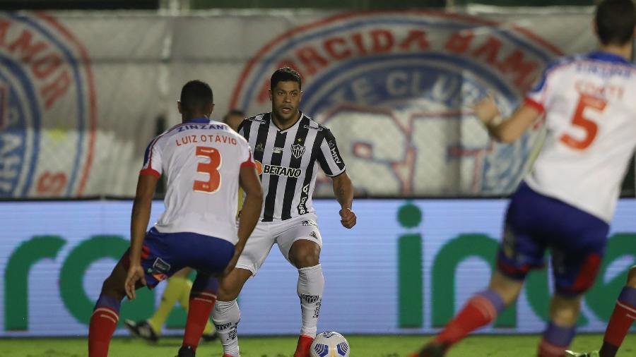 Hulk passou em branco na derrota do Galo por 2 a 1 para o Bahia - Pedro Souza/Atlético-MG