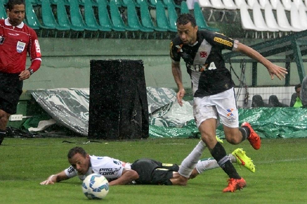 Nenê ganha a disputa de bola com o jogador do Coritiba