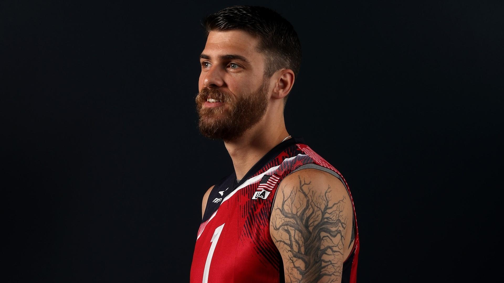 Matt Anderson, atleta da seleção norte-americana de vôlei