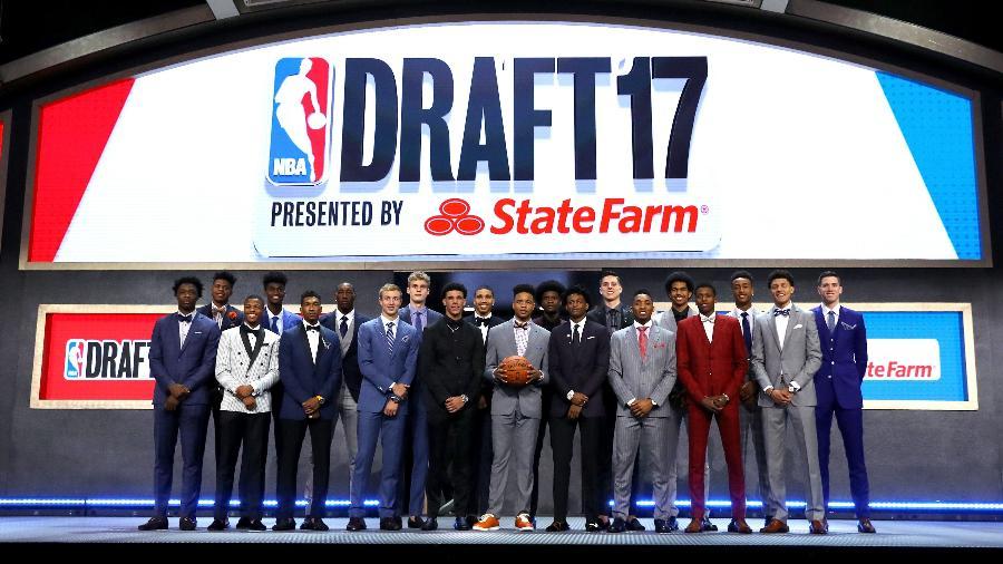 Futuros jogadores da NBA posam antes do draft de 2017 - Mike Stobe/Getty Images/AFP