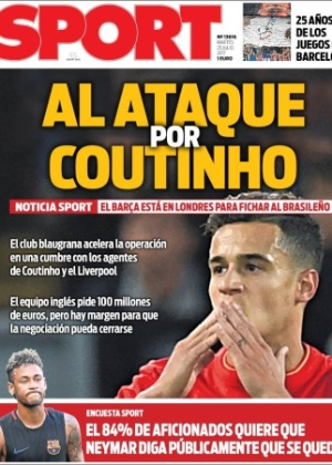 Movimentação do Barcelona por brasileiro do Liverpool é destaque desta terça-feira na imprensa catalã