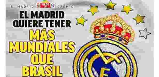 """Capa do jornal espanhol """"Marca"""" deste sábado (16) - Reprodução/Twitter"""