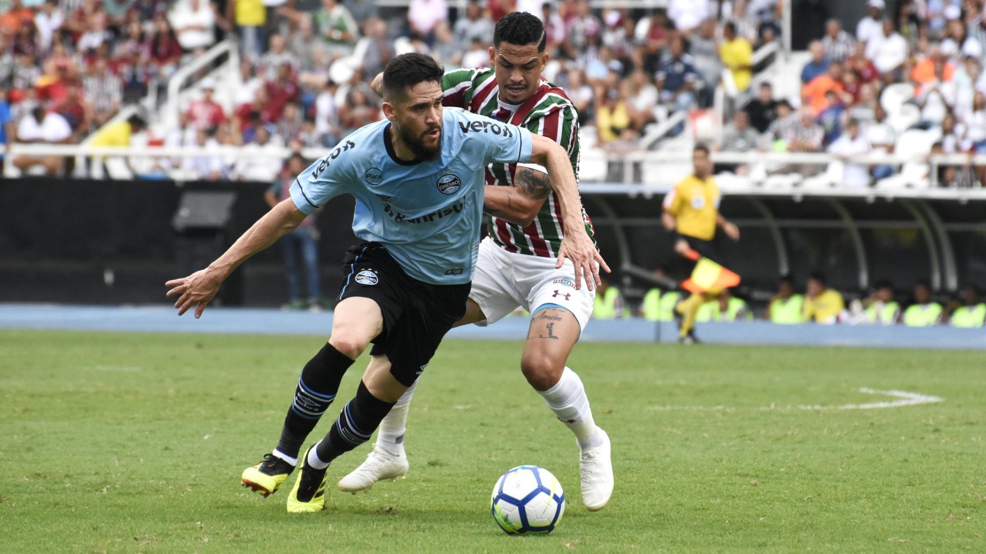 Marcelo Oliveira, durante partida entre Grêmio e Fluminense