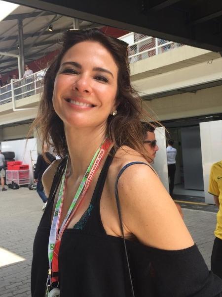Luciana Gimenez no paddock do GP do Brasil de 2018 - Luiza Oliveira/UOL
