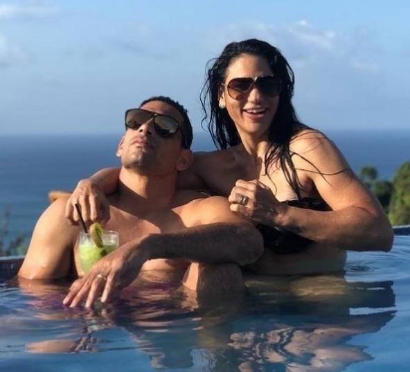 Diego Souza, do São Paulo, é outro jogador que está em Fernando de Noronha com a mulher